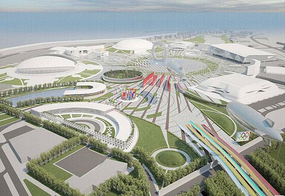 Вид на главную олимпийскую площадь