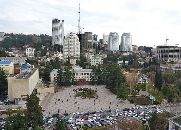 Вид площади до реконструкции