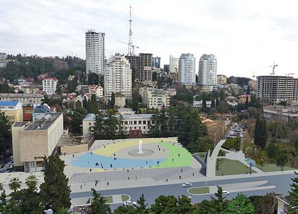 Вид площади после реконструкции