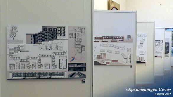 Открылась третья отчетная выставка курсовых и дипломных работ  В этом году в рамках выставки представлены также работы 10 финалистов первого студенческого конкурса Дом на рельефе в котором приняли участие 22 проекта