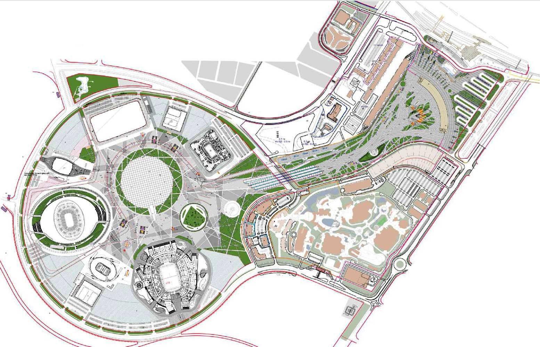 Схема олимпийский парк сочи