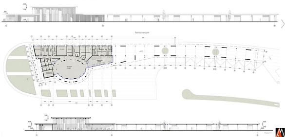Композиционная схема здания