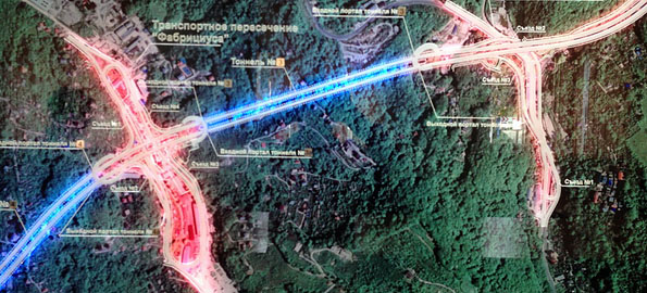 Схема дороги дублер курортного проспекта.
