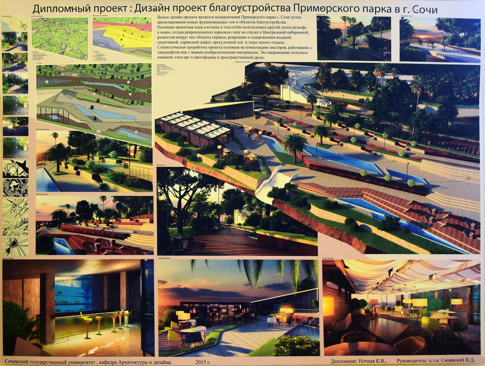 Голосование за самый нужный проект для города Сочи Дипломный проект Дизайн проект благоустройства Приморского парка в г Сочи
