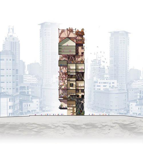 FLIP/CITY - Разрез одного из возможных городских кластеров.