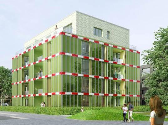 Algae Powered House, Biofacade, Splitterwerk, ARUP, Colt International, SCC, Green Power, Plant power, renewable energy