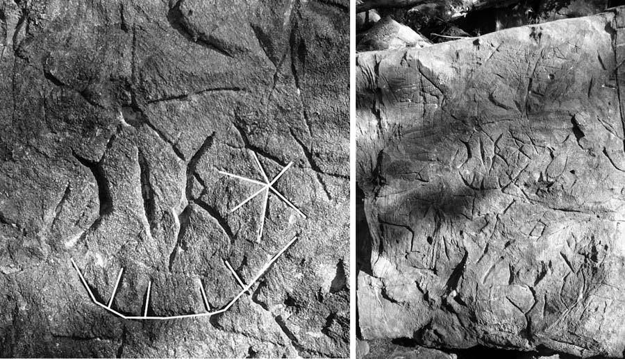 Символ ладьи на камне из Лоо