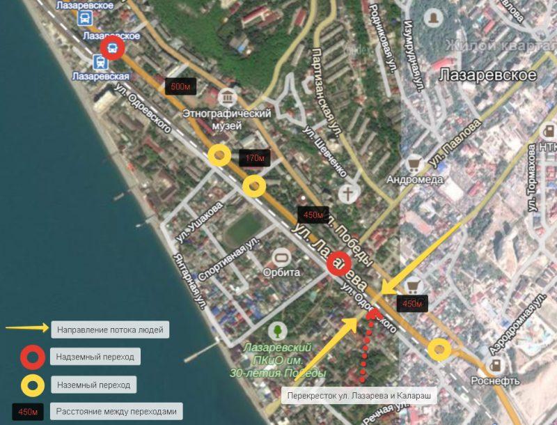 Схема сложившейся ситуации в центре Лазаревского