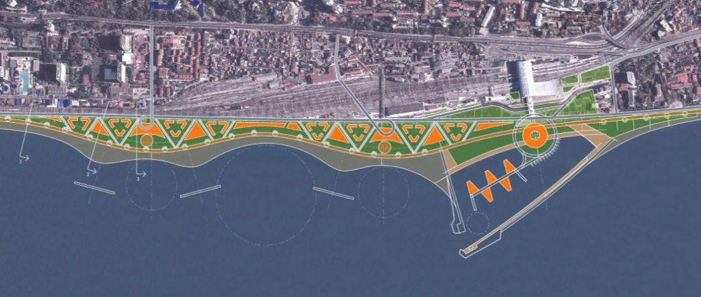 Предложение по размещению марины как развитие ТПУ «Адлер» в комплексном решении по реконструкции набережной