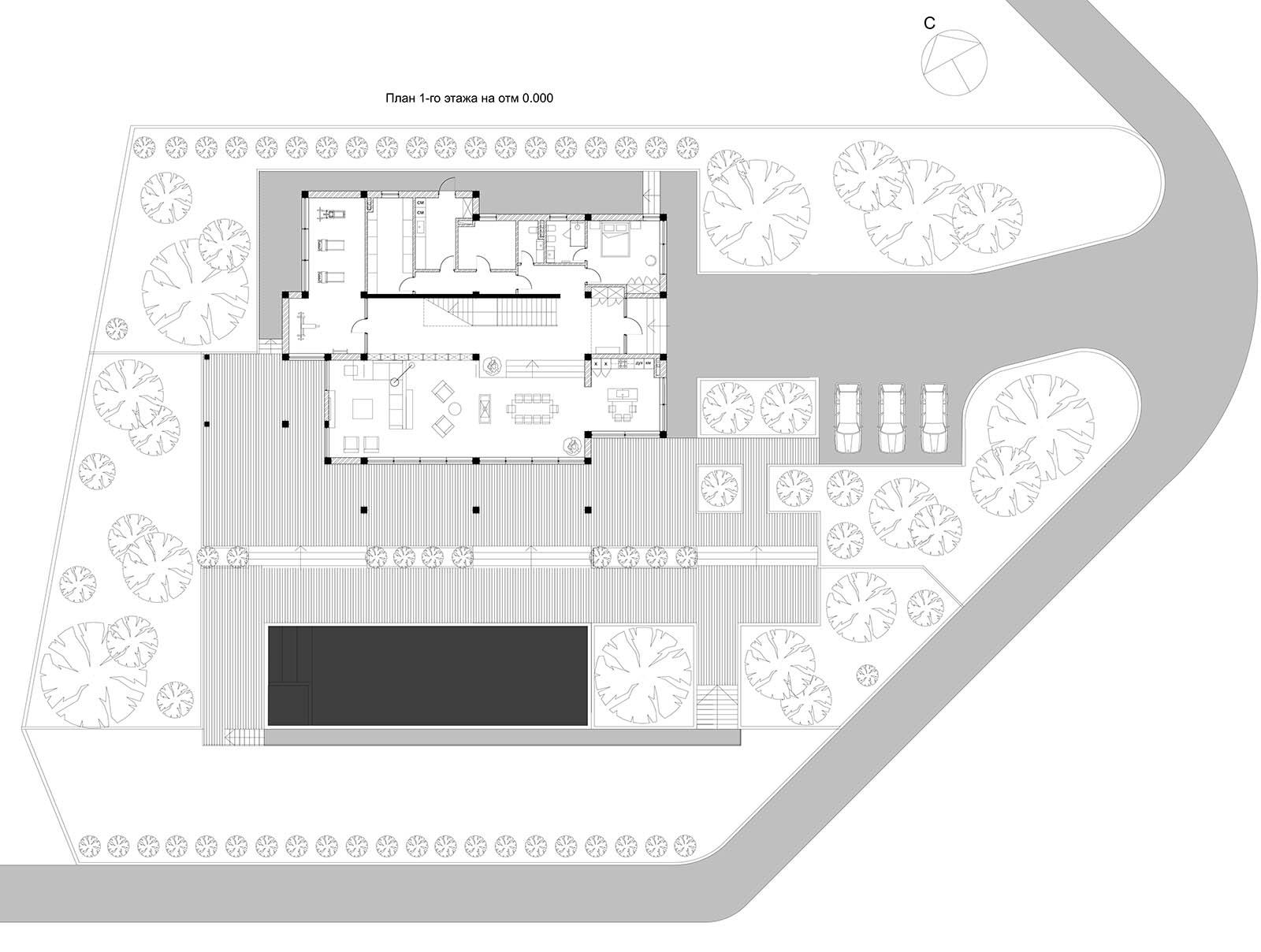 План 1 этажа © Dinastia Designs