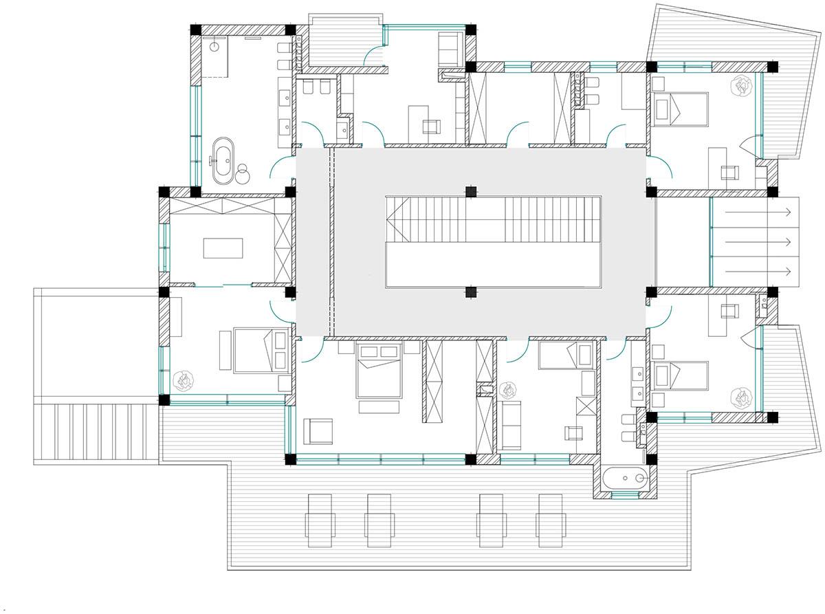 План 2 этажа © Dinastia Designs