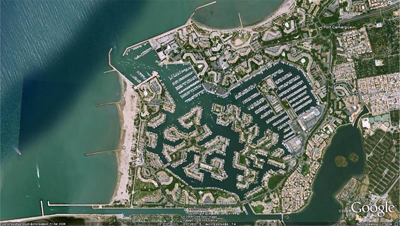 Порт Камарг. Первая в Европе развлекательная марина на 4500 яхт. Построена в 1969 году в заболоченном устье Роны – на казавшейся бесперспективной территории.