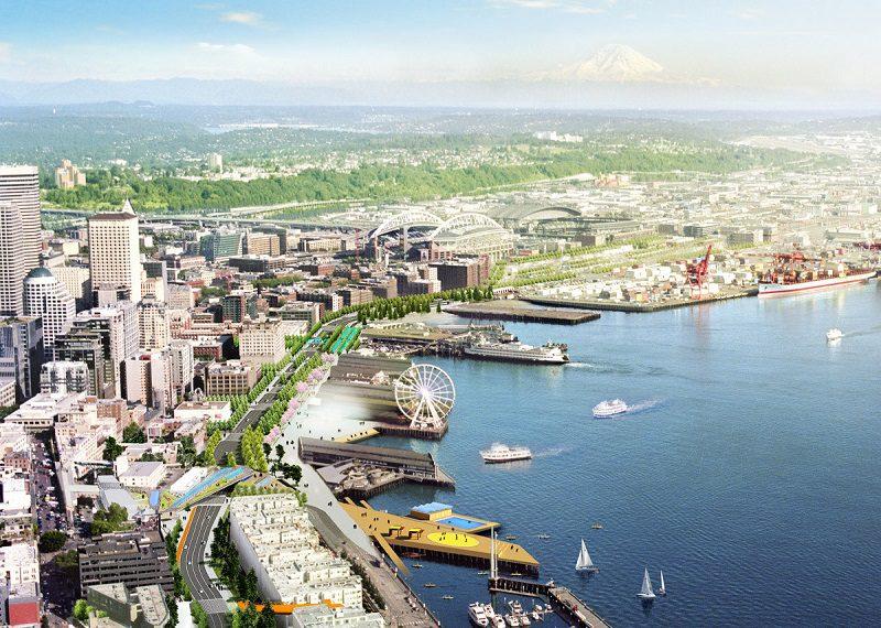 Seattle Waterfront; Alaskan Way Viaduct; SR 99; Downtown Seattle