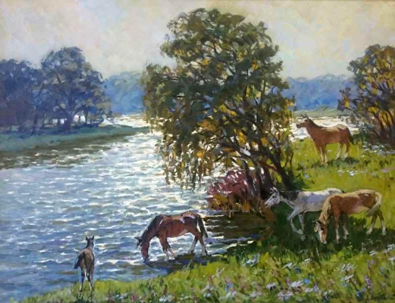 Выставка картин Леонида Лучевского в Зимнем театре